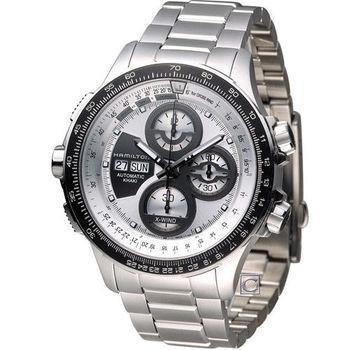 Hamilton 卡其御風者自動計時腕錶 H77726151 灰