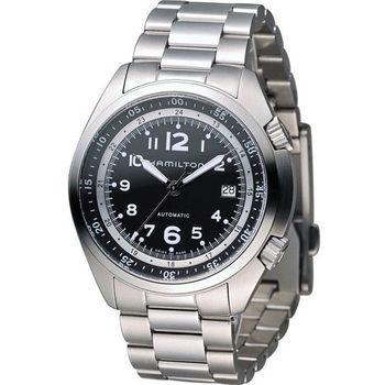 HAMILTON 卡其飛行先鋒機械腕錶 H76455133 黑