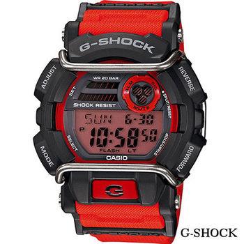 CASIO GD-400卡西歐 G-SHOCK 經典防撞保護設計 GD-400-4黑x紅