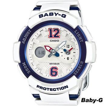 卡西歐 CASIO Baby-G 街頭運動錶 BGA-210-7B2 藍x白