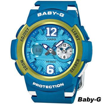 卡西歐 CASIO Baby-G 街頭運動錶 BGA-210-2B 藍