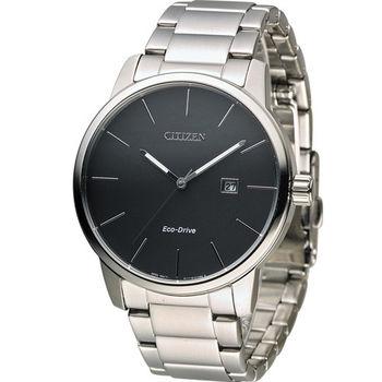 星辰 CITIZEN Eco Drive 光動能質感穩重時尚腕錶 BM6960-56E 黑