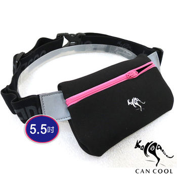 KANGAROO敢酷 5.5吋雙補給環防潑水運動腰包(粉) K150104005