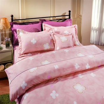 【Novaya諾曼亞】《幸運草》絲光綿雙人七件式鋪棉床罩組