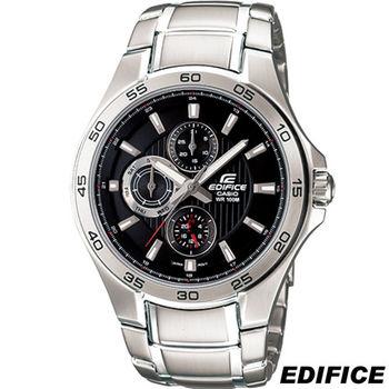 卡西歐 CASIO EDIFICE 三環時尚運動錶 EF-335D-1A 黑