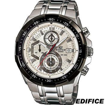 卡西歐 CASIO EDIFICE 粗獷三眼計時腕錶 EFR-539D-7A 白