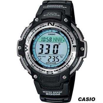 卡西歐 CASIO 溫度 數位羅盤 多功能錶 SGW-100-1黑
