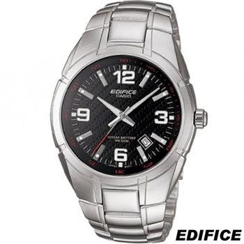 卡西歐 CASIO EDIFICE 俐落簡約時尚錶 EF-125D-1A 黑
