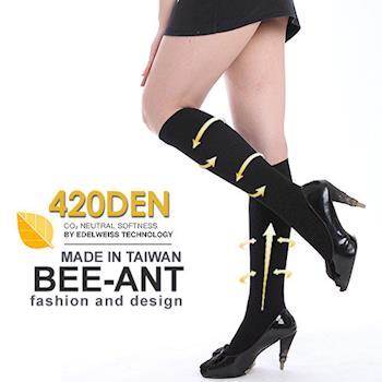 【AILIMI】420D階段加壓塑型膝下襪(1雙組)