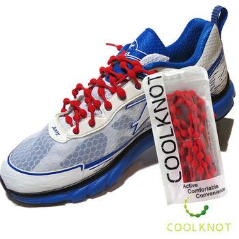 COOLKNOT 豆豆免綁彈性安全鞋帶 (75cm) 馬拉松 路跑 三鐵(魔力紅) CK15-08