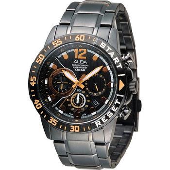 ALBA 奔放自由計時運動腕錶 VD53-X239SD