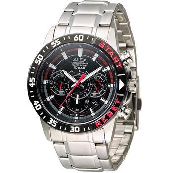 ALBA 奔放自由計時運動腕錶 VD53-X239D