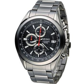 SEIKO 精工錶三眼計時錶 8T67-00A0SD