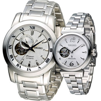 SEIKO 寵愛時尚機械對錶 4R39-00L0W 4R38-00N0N 白