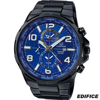 卡西歐 EDIFICE 世界時間時尚錶 EFR-302BK-2A