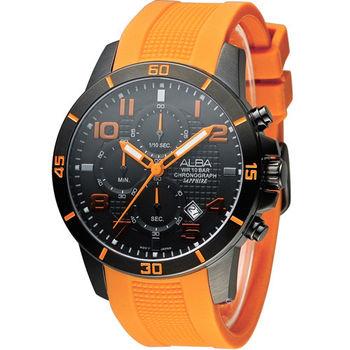 ALBA 奔放自由計時運動腕錶 VD57-X062J