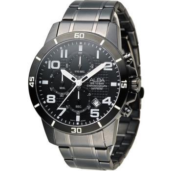 ALBA 奔放自由計時運動腕錶 VD57-X061SD