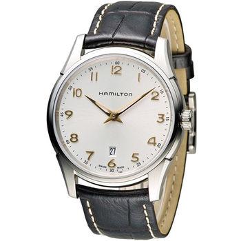 漢米爾頓 Hamilton Jaazmaster 時尚石英錶 H38511513 白x咖啡