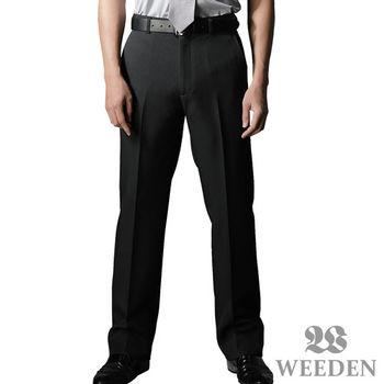 WEEDEN 精緻質感暗斜紋平面西褲‧簡約黑