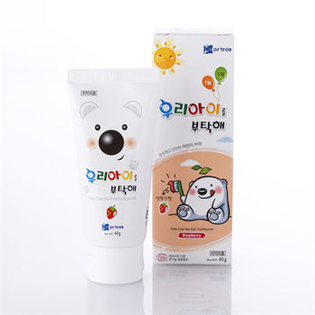 韓國寶貝熊兒童牙膏-草莓60g