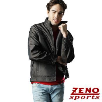 ZENO傑諾 韓風仿皮衣時尚修身外套‧咖啡M~3L