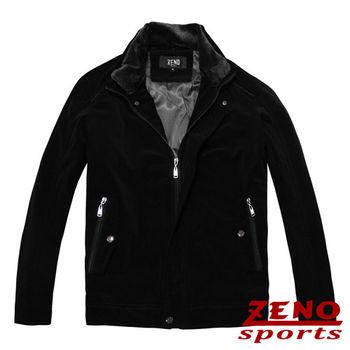 ZENO傑諾 極致手感經編絨保暖外套‧黑色M~3L