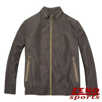 ZENO傑諾 韓風立領麂皮保暖外套‧棕色M~3L