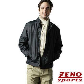 ZENO傑諾 韓風時尚修身防潑水外套‧黑藍M~XL