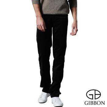 GIBBON 頂級經編絨直紋保暖長褲‧墨茶色29~42