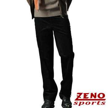 ZENO傑諾 精選交織格紋保暖柔絨長褲‧黑色29~42