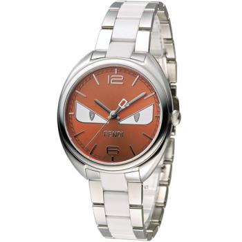 芬迪 FENDI 小怪獸系列時尚腕錶 F216037104D1 橘