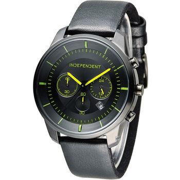 INDEPENDENT 潮流玩酷炫彩計時腕錶 KF5-144-52 皮