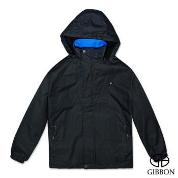 GIBBON 防風抗水刷毛休旅外套‧黑色M~3L