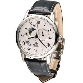ORIENT 東方錶 SUNMOON系列 日月星辰機械錶 SET0T002S 白