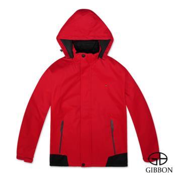 GIBBON 防風防水刷毛機能外套‧紅色L~XL
