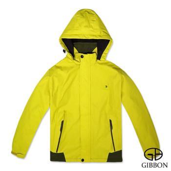 GIBBON 防風防水刷毛機能外套‧鵝黃M~3L