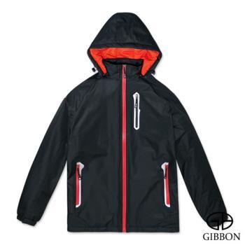 GIBBON 防潑水防風反光條機能外套‧黑色M~3L