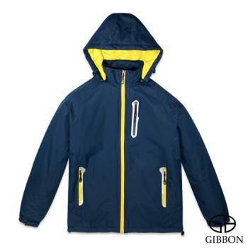 GIBBON 防潑水防風反光條機能外套‧藏青M~3L