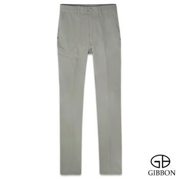 GIBBON 四面彈力保暖吸排格紋長褲‧淺草綠30~40