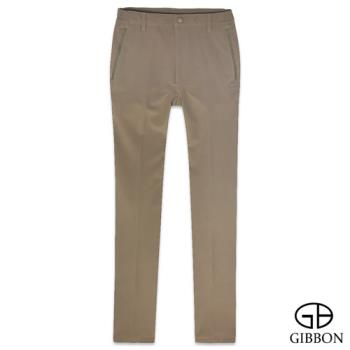 GIBBON 四面彈力防水保暖鬆緊長褲‧棕色M~3L