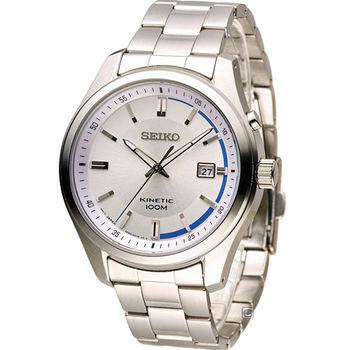 SEIKO KINETIC 人動電能時尚腕錶 5M82-0AV0S SKA717P1 銀色