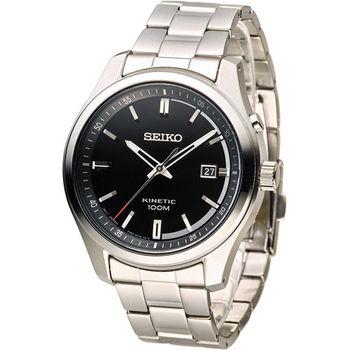 SEIKO KINETIC 人動電能時尚腕錶 5M82-0AV0D SKA719P1 黑