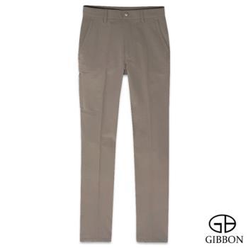 GIBBON 四面彈力保暖吸排格紋長褲‧褐色30~40