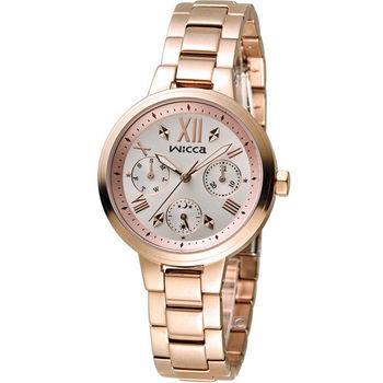 星辰 CITIZEN WICCA 英倫少女時尚腕錶 BH7-521-21 玫瑰金色
