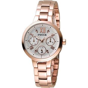 星辰 CITIZEN WICCA 英倫少女時尚腕錶 BH7-521-11 玫瑰金色