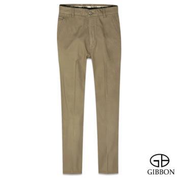 GIBBON 彈性內刷毛保暖休閒褲‧亞麻褐31~42