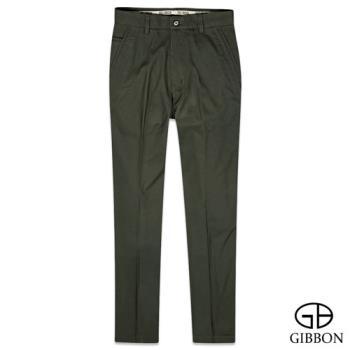 GIBBON 彈性內刷毛保暖休閒褲‧亞麻綠32~42