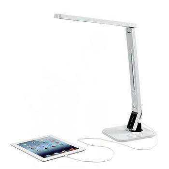 LED 調光氣氛省電護眼防眩光檯燈系列 USB 充電功能(白色)