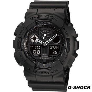 CASIO G-SHOCK 粗獷個性風運動錶 GA-100-1A1
