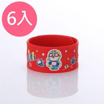 韓國Pororo快樂小企鵝防蚊手環-紅X6